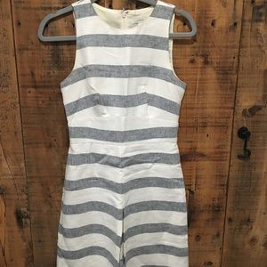 J Crew Linen Striped Dress